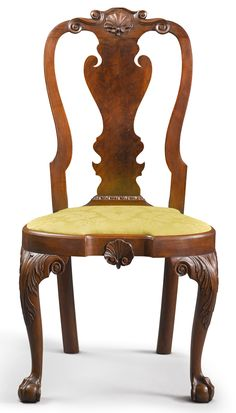 Important Queen Anne Carved Walnut Compass-Seat Side Chair, Philadelphia, circa 1755