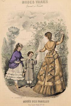 Modes Vraies Musée des Familles 1869