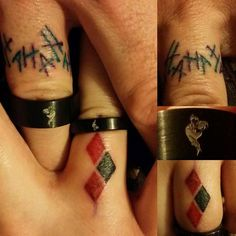 I dont like couple tattoos but cant lie, these are cute