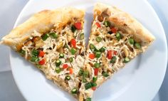 Cajun Crab & Asparagus Pizza - veganized with hearts of palm and cashew cream!