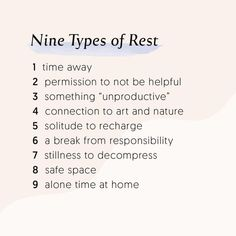 Nine types of rest & self care for self love The Words, Motivacional Quotes, Life Quotes, Funny Quotes, Relation D Aide, Vie Positive, Positive Quotes, Love Quotes For Her, Self Care Routine