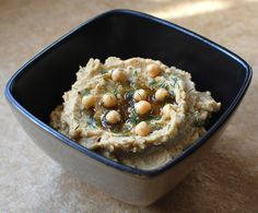Roasted Fennel Hummus (humous) with fennel and coriander seed flavoured oil