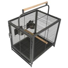 This Parrot Travel Cage has everything you need to transport your Parrot safely, with feeders, perches, tray and more. Plus it's strong and lightweight. Shop now. #travelcage #africangrey #conure #amazon #caique #meyers #senegalparrot #eclectus Parrot Cages, Senegal Parrot, Conure, Shop Now, Tray, Strong, Amazon, Amazons, Riding Habit