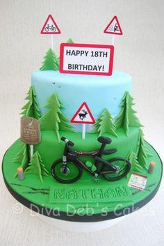 Mountain Bike Cake - Cake by Deborah