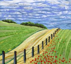 Fiber Art:   http://www.lubbesmeyer.com/wp-content/uploads/2012/05/Fence-and-Poppies.jpg