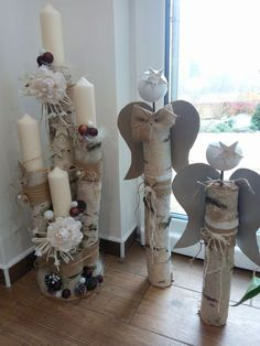 Dekorative Holzideen – Deko weihnachten – – Rebel Without Applause Angel Crafts, Xmas Crafts, Christmas Projects, Wood Crafts, Diy And Crafts, Outdoor Christmas, Christmas Angels, Rustic Christmas, Christmas Christmas