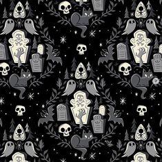 by Caley Hicks - Every day is Halloween Halloween Wallpaper Iphone, Skull Wallpaper, Halloween Backgrounds, Wallpaper Backgrounds, Iphone Wallpaper, Wallpapers, Cellphone Wallpaper, Samhain, Scary Tales