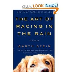 The Art Of Racing In The Rain ~ Garth Stein...A heart-wrenching but deeply funny and ultimately uplifting story of family, love, loyalty, and hope--a captivating look at the wonders and absurdities of human life . . . as only a dog could tell it.