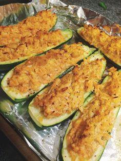 Buffalo Chicken Zucchini Boats (Whole30)