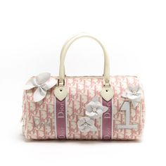 8a7378bbd1f5  Dior pink cotton  Girly  Flower  Mini  Boston. Available at lxrco