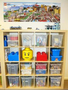 Superbe Lego Storage Area For Kids Playroom. Get Some Yellow Bins From Dollar Tree  And Paint