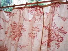lovely red toile curtains