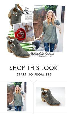 """KnittedBelle.14"" by selmina ❤ liked on Polyvore featuring moda, Anja, EASEL, ShoeMaiden, Sweet Romance, women's clothing, women's fashion, women, female e woman"