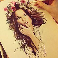 Рисунок девушки карандашом #картинки #рисунок #портрет #девушка #арт #искусство