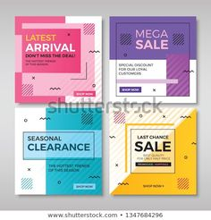 Set of modern promotion square banners Poster Design Layout, Typography Poster Design, Creative Poster Design, Creative Posters, Layout Template, Banner Template, Web Banner, Kids Graphic Design, Web Design