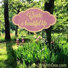 I've finally defined the mission for Life With Dee - Creating a Beautiful Life.