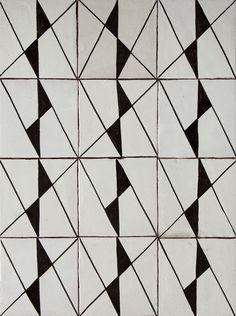 Les Ateliers Zelij: Carreaux peints DP28A (hand painted cement tiles) from £335/m2