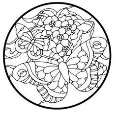 Sommerfugl i cirkel