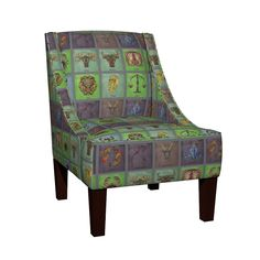 Venda Sloped Arm Chair featuring 12 Signs  by floramoon_designs | Roostery Home Decor