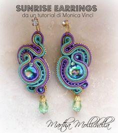 Martha Mollichella: Soutache Sunrise Earrings