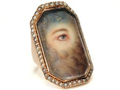 Very Rare Georgian Lover's Eye Ring