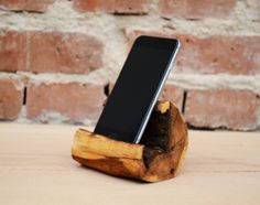 Wooden iPhone 6 Station Handmade gift Wooden iPhone by WoodRestart