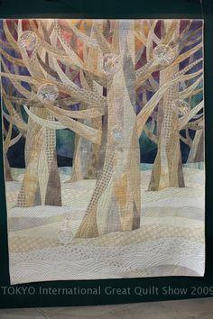Winter trees quilt