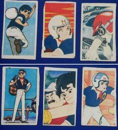 Speed Racer Japanese Menko Cards / Mach Go Go Go - / vintage antique old art card anime japan retro Old Anime, Manga Anime, Speed Racer Cartoon, Anatomy Drawing, Anime Japan, Vintage Cartoon, Old Art, Art Prints, Retro