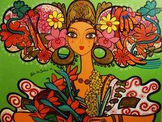 Entre flores, naturaleza y la sensualidad feminina, encontramos la obra del panameño Rolando 'Rolo' De Sedas, cuyasmamis, tan coquetas y tipicamente panameñas, han conquistado el corazón nacional. Defensor muy vocal…