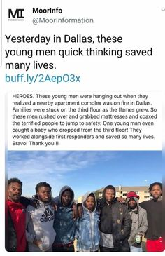"positive-memes:""These men are the embodiment of true heroes"" Sweet Stories, Cute Stories, We Are The World, In This World, Human Kindness, Gives Me Hope, Faith In Humanity Restored, Fun Facts, Random Facts"