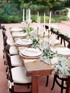 Elegant and Organic Wedding Ideas | Wedding Sparrow | simple, earthy tablescape