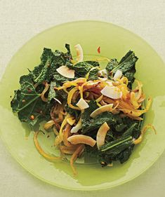Curried Kale With Coconut | You know that greens are nutritious—now make them delicious. Add these recipes featuring kale, spinach, chard, and more greens to the dinner rotation.