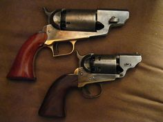 Colt Walker (top), Colt Navy  converted to Avenging Angels -- belly guns.
