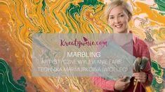 Marbling - technika z widelcem, DIY tutorial Textiles, Diy Tutorial, Decoupage, Youtube, Tutorials, Textile Art, Teaching, Cloths