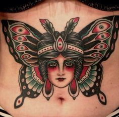 shoulderblade tattoos for women Traditional Tattoo Ink, Traditional Butterfly Tattoo, Traditional Ink, American Traditional, Butterfly Name Tattoo, Butterfly Tattoos For Women, Butterfly Tattoo Designs, Pin Up Tattoos, Rose Tattoos