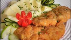 Křupavá cuketa z trouby – RECETIMA No Salt Recipes, Cooking Recipes, Hungarian Recipes, Poultry, Food And Drink, Appetizers, Low Carb, Yummy Food, Chicken