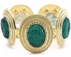 emerald green statement bracelet--one of  @Audrey McClelland's picks for must-have staples