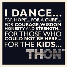 I dance for...