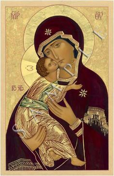 Panagia and the Christ Child madre di Dio di Vladimir Byzantine Icons, Byzantine Art, Religious Icons, Religious Art, Queen Of Heaven, Russian Icons, Madonna And Child, Catholic Art, Art Icon
