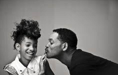 Willow Smith and Will Smith - Moment of Family Will Smith, Jaden Smith, Jada Pinkett Smith, Black Fathers, Fathers Love, Daddys Little Girls, Daddys Girl, Pretty People, Beautiful People