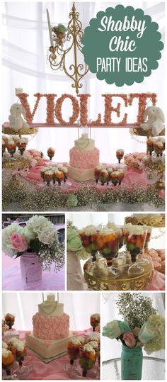 What a gorgeous baby shower in a shabby chic style! See more party ideas at CatchMyParty.com!