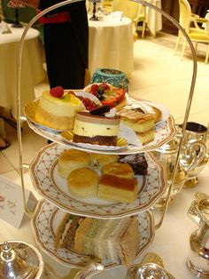 Afternoon high tea at the Ritz in London.