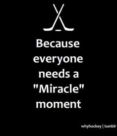 Miracle moment.