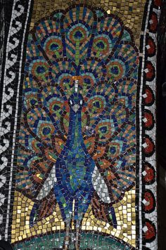 Peacock Mosaic by serosedserio, via Flickr