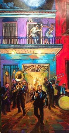 Terrance Osborne on Terrance Osborne - 2014 Jazz Fest Poster - attempt, unfinished version Preservation Hall Jazz Band, Graffiti Kunst, Pop Art, Louisiana Art, New Orleans Art, Jazz Poster, Black Art Pictures, Jazz Art, Music Illustration
