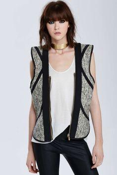 Vintage Balenciaga Cádiz Wool Tweed Vest
