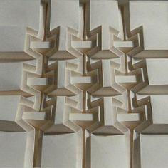 Aztec Pattern - corrugation paperfold
