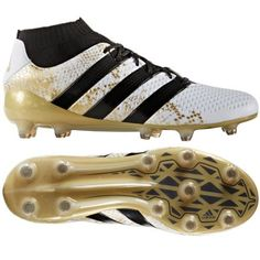 adidas ACE 16.1 Primeknit FG (White Black Gold Metallic) Soccer Workouts ebc032843