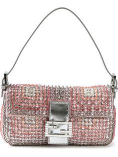 Fendi 'Baguette' embellished clutch in Stefania Mode