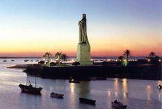 Monumento a fe descubridora, punta del Sebo, Huelva
